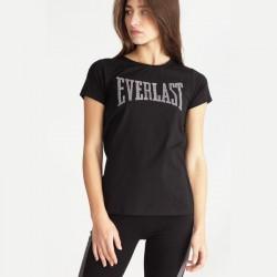 T-shirt jersey logo strass...