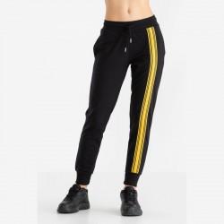 Pantalone felpa bande black...