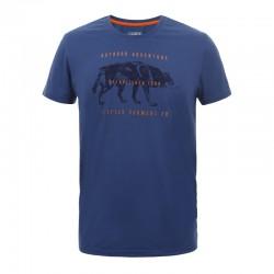 T-shirt Baxter blu uomo