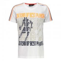 T-shirt stampata bianco boy