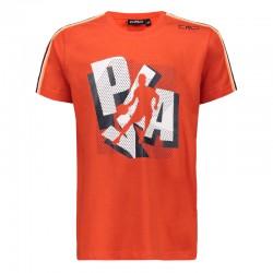 T-shirt stampata flame boy