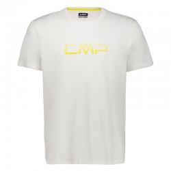 T-shirt logo bianco uomo