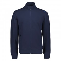 Felpa full zip navy uomo