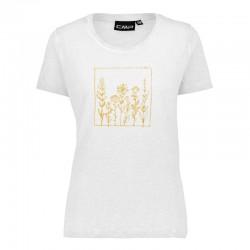 T-shirt jersey bianco donna