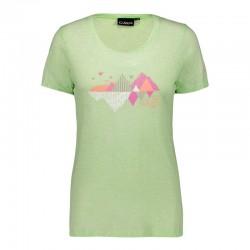 T-shirt jersey leaf donna