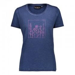 T-shirt jersey blue donna
