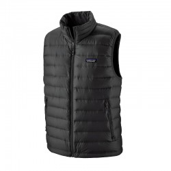 Down Sweater Vest black uomo