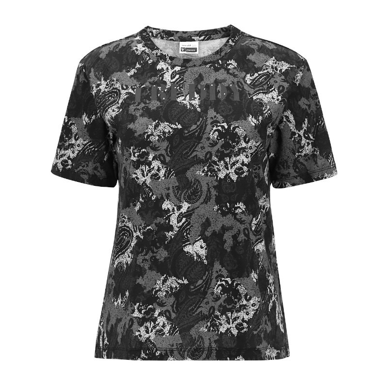 FREDDY T-Shirt Fitness in Tessuto Tecnico Stampato Camouflage