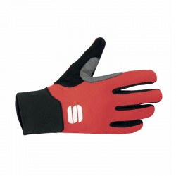 Engadin softshell gloves red