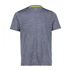 T-shirt in piquet melange...