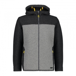 Giacca full zip in wooltech...