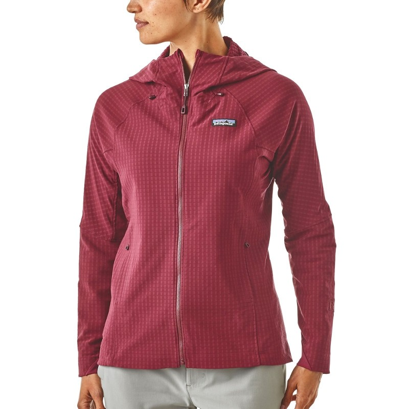 size 40 17290 d550f Patagonia Giacca R1 TechFace rossa donna